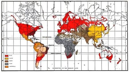Human races - varieties-colour distribution